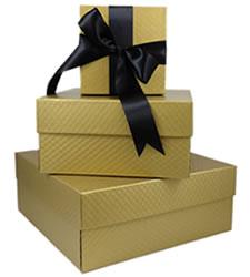 gold pillow rigid boxes