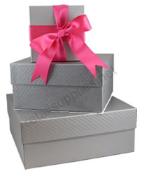 silver embossed rigid boxes