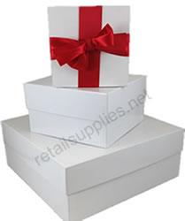 white gloss rigid boxes